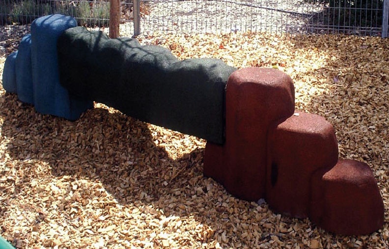 Rubber Balance Logs for Playgrounds