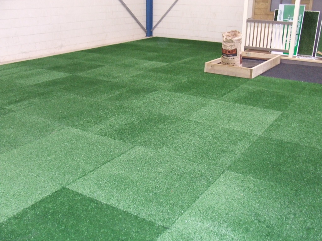 Turf Tiles Used in Display Area