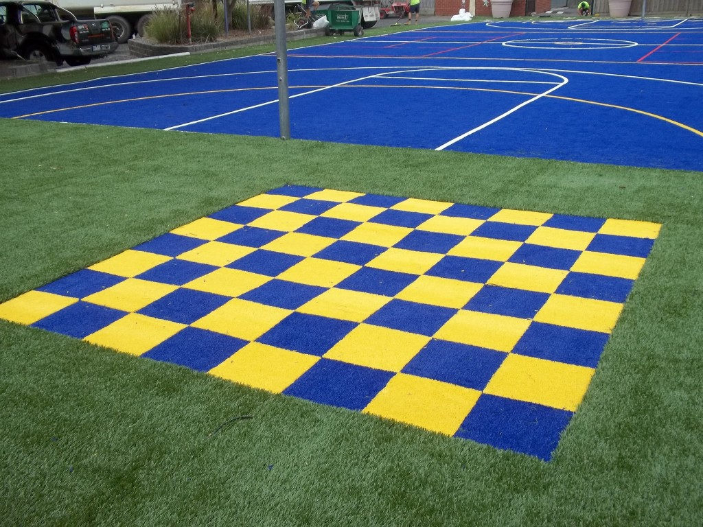 Giant Synthetic Grass Chessboard