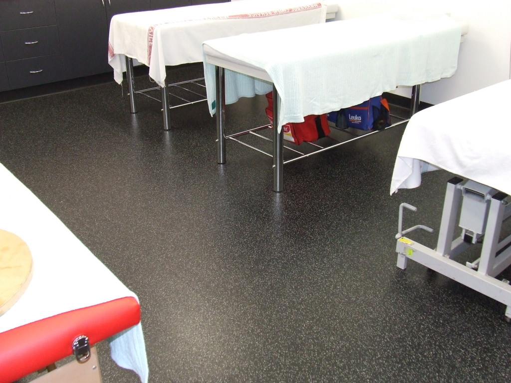 Rubber Flooring for First Aid Rooms