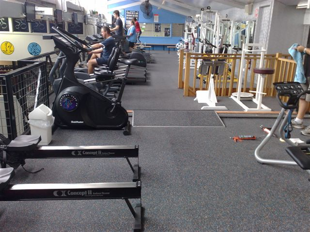Speckled Crumb Matting in Gym